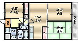大阪府和泉市箕形町2丁目の賃貸マンションの間取り