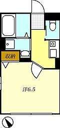 T-net アシュー[201号室]の間取り