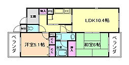 エアフォルク利倉東[2階]の間取り