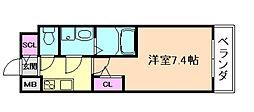 サムティ福島ルフレ 2階1Kの間取り