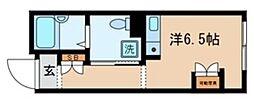 ES-V 3階ワンルームの間取り