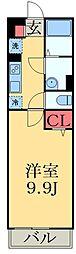 京成千葉線 西登戸駅 徒歩2分の賃貸マンション 1階1Kの間取り
