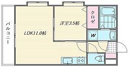 グリーンヒル香住ヶ丘[203号室]の間取り