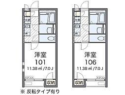 JR横浜線 相模原駅 徒歩20分の賃貸アパート 2階1Kの間取り