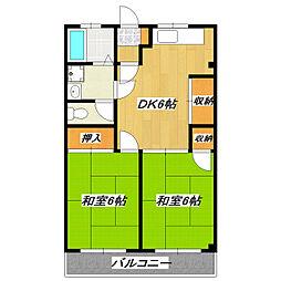 宇田川コーポ[3階]の間取り