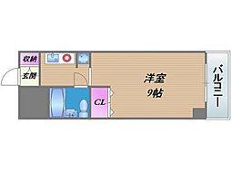 ライオンズマンション今里第二 仲介手数料10800円 専用消[9階]の間取り