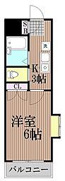 東京都品川区大井6丁目の賃貸マンションの間取り