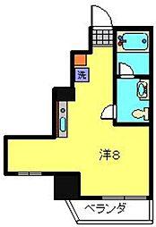 ルナマーレ 3階ワンルームの間取り