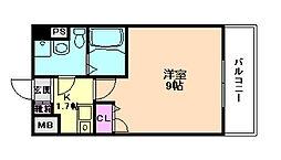 エスリード福島駅前第2[3階]の間取り