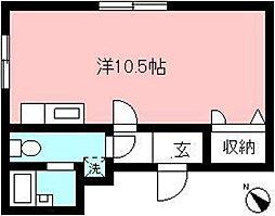 ハープレジデンス[4階]の間取り