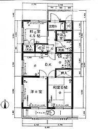 ディア名島マンション(301)[301号室]の間取り