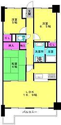 ロワイヤル東加古川[203号室]の間取り
