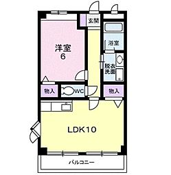 近鉄南大阪線 高鷲駅 徒歩28分の賃貸マンション 3階1LDKの間取り