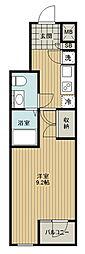 東武東上線 下赤塚駅 徒歩10分の賃貸マンション 5階1Kの間取り