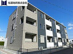 愛知県豊橋市神野新田町字ヨノ割の賃貸アパートの外観