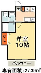 JR総武線 千葉駅 徒歩10分の賃貸マンション 1階1Kの間取り