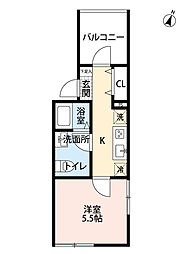 Fleur chiba(フルールチバ)[2階]の間取り