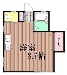 東京都大田区山王4丁目の賃貸アパートの間取り