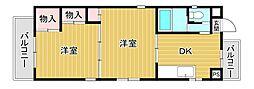 藤山ハイツ[3階]の間取り