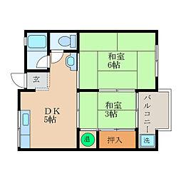 近江八幡ドリームマンションB[4階]の間取り