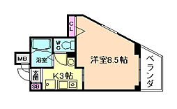 ヌーベル福島[4階]の間取り