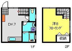 神奈川県横浜市南区井土ケ谷中町の賃貸アパートの間取り