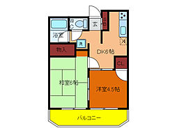 千葉県柏市あけぼの4丁目の賃貸アパートの間取り