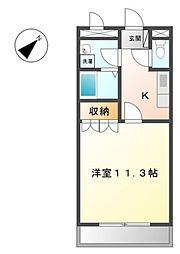 愛知県愛知郡東郷町大字和合字牛廻間の賃貸アパートの間取り
