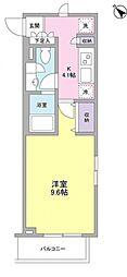 ZX minamiーOtsuka 5階1Kの間取り