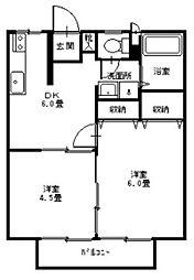 サンシティ福島 C[203号室]の間取り