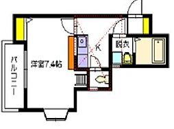 サンシャイン飯倉[1階]の間取り