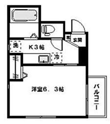 コンフォート宿河原[2階]の間取り