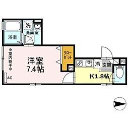 Maison de la pomme[3階]の間取り
