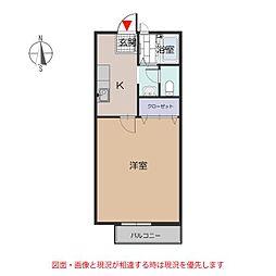 愛知県豊田市小川町7の賃貸アパートの間取り