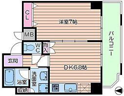 AXIS豊崎[4階]の間取り