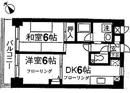 レジデンス二俣川第3[2階]の間取り
