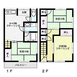 メゾネットM2[1階]の間取り