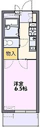 JR川越線 的場駅 徒歩4分の賃貸マンション 1階1Kの間取り