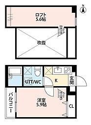 Ferris座間(フェリスザマ)[2階]の間取り
