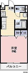 岐阜県美濃加茂市古井町下古井の賃貸アパートの間取り