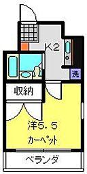 神奈川県横浜市港南区上大岡西3丁目の賃貸マンションの間取り