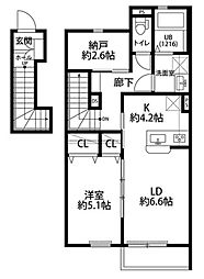 Dura Casa M 2階1SLDKの間取り