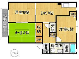 コンフォート吉塚II B[201号室]の間取り