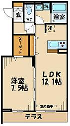 仮)D-room府中町2丁目 1階1LDKの間取り