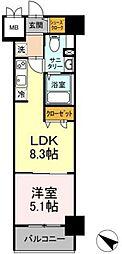 TEC Green Residence 3階1LDKの間取り