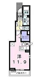 横浜市営地下鉄ブルーライン 上永谷駅 徒歩22分の賃貸アパート 2階1LDKの間取り