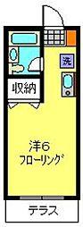 横浜市営地下鉄ブルーライン 上永谷駅 徒歩13分の賃貸アパート 1階ワンルームの間取り