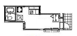 ソルナクレイシア浜田山 1階ワンルームの間取り