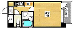 ピュアドーム天神アネックス[5階]の間取り