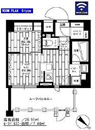 ステージグランデ千歳烏山アジールコート 5階1DKの間取り